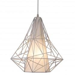LAMPA WISZĄCA SKELETON, skeleton, lampy, lampy wiszące, oświetlenie, HP1335-WH, Zuma Line, BIAŁA LAMPA WISZĄCA, NOWOCZESNE LAMPY