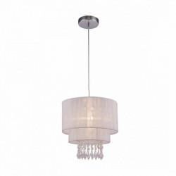 LETA LAMPA WISZĄCA, RLD93350-1W ZUMA LINE, BIAŁA LAMPA WISZĄCA, BIAŁA LAMPA ZUMA LINE, BIAŁE LAMPY WISZĄCE, BIAŁA LAMPA Z KRYSZT