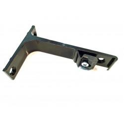 Czarny uchwyt/wspornik 10 cm. pojedynczy, ścienny uchwyt do szyn karniszowych, czarne wsporniki ścienne do szyn aluminiowych, śc
