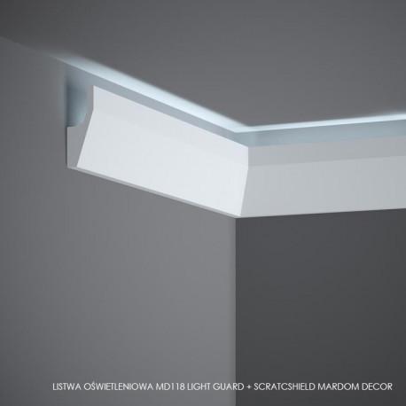 LISTWA OŚWIETLENIOWA, MD118 mardom, md118, Light Guard, ScratchShield, MARDOM DECOR LISTWA ŚCIENNA LED, LISTWY OŚWIETLENIOWE LED