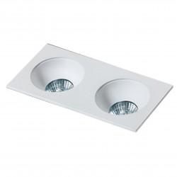 Lampa HUGO 2 Downlight bez wkładu GM2203 Downlight white / alumini Azzardo
