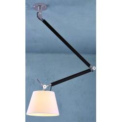 Lampa ZYTA PENDANT M WHITE MD2300-M WH white/black/chrome Azzardo