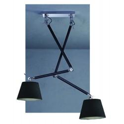 Lampa ZYTA PENDANT 2 S BLACK MD2300-2S BK black/black/chrome Azzardo