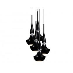 Lampa TASOS 5 pendant MD2095A-5BK metal/glass/ chrome/ Azzardo
